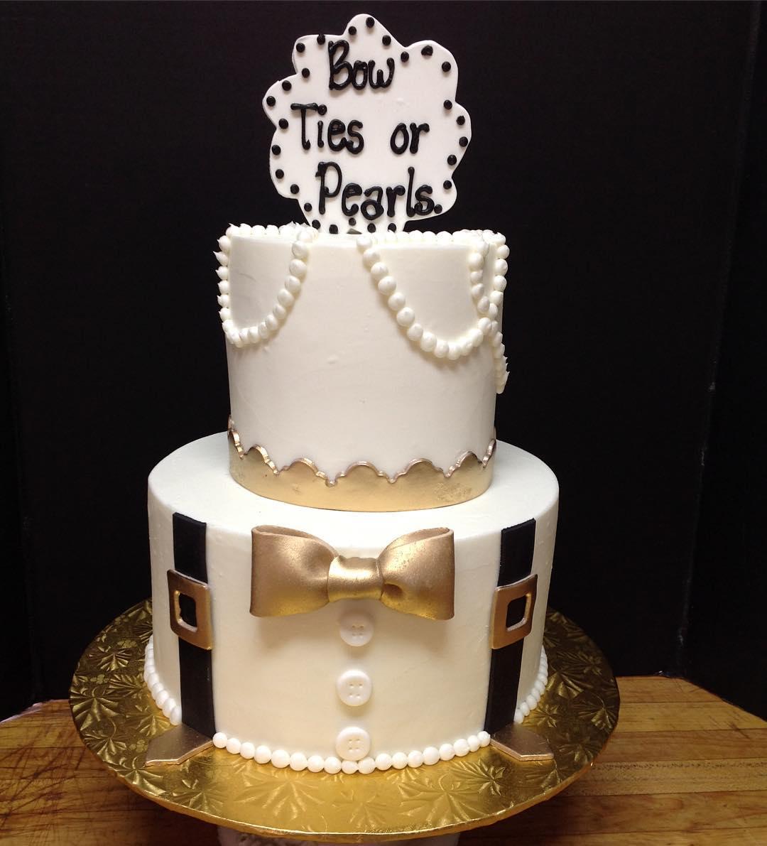 Such a cute gender reveal! #genderreveal #cakestagram #cakesofinstagram