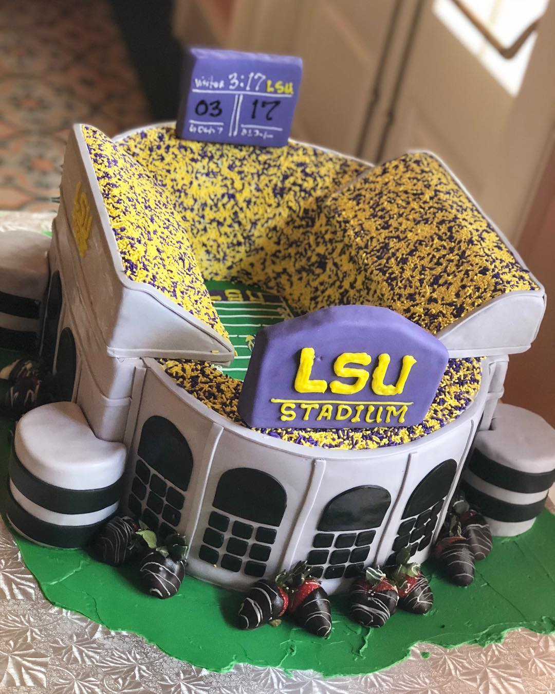 Fabulous Welcome To Death Valley Lsu Deathvalley Groomscake Personalised Birthday Cards Veneteletsinfo