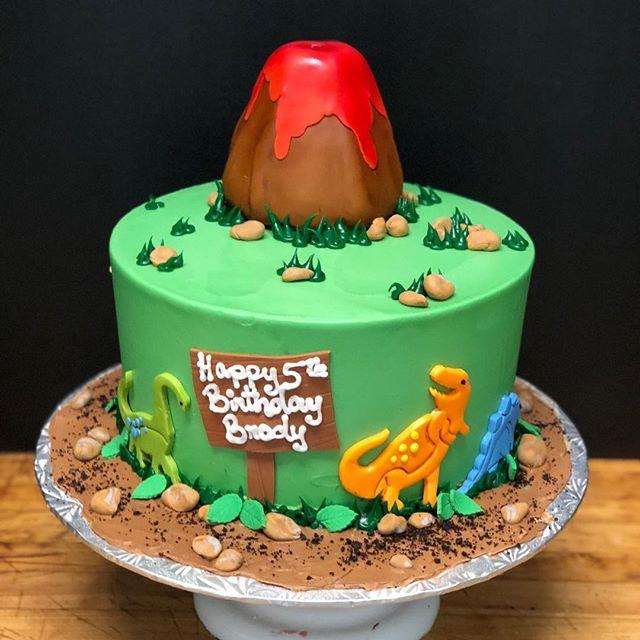 Cool Birthdaycake Dinosaurs Personalised Birthday Cards Veneteletsinfo